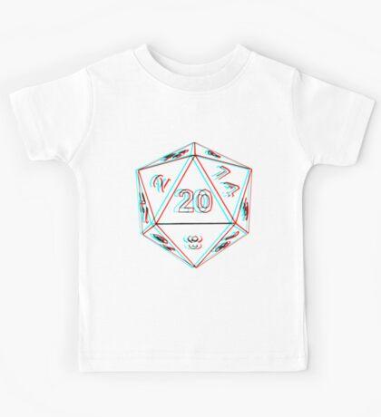 3D D20 Dice Kids Tee