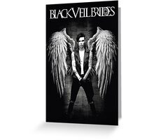 Black Veil Brides Fallen Angel Poster Tour dates Greeting Card