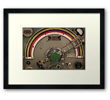 Military radio transmitting station Framed Print