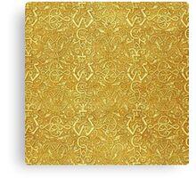 Vintage Triskle Celtic Trinity Knot Yellow Gold Canvas Print