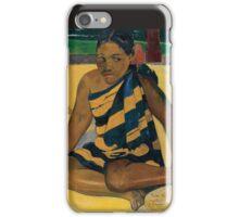 Paul Gauguin - Parau Api. What News 1892 iPhone Case/Skin