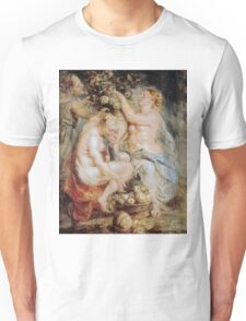 Peter Paul Rubens - Ceres and Two Nymphs with a Cornucopia Unisex T-Shirt