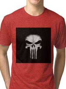 Punisher DD white Tri-blend T-Shirt