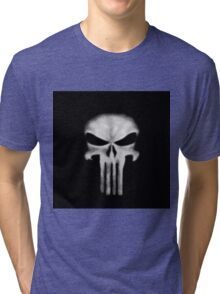 Punisher DD white Tri-blend T-Shirt