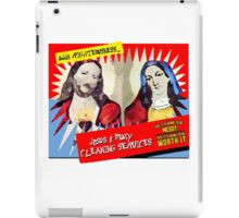 Jesus and Mary Cleaning Services iPad Case/Skin