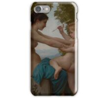 William Bouguereau  - A Young Girl Defending Herself against Eros about 1880 iPhone Case/Skin