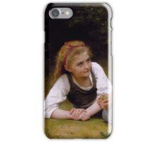 William Bouguereau  - The Nut Gatherers 1882 iPhone Case/Skin