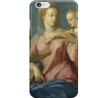 Agnolo Bronzino - The Holy Family with the Infant Saint John the Baptist Madonna Stroganoff 1540-s Woman Portrait Fashion iPhone Case/Skin
