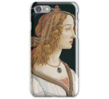 Botticelli  - Idealized Portrait of a Lady Portrait 1480 Woman Portrait Beauty iPhone Case/Skin