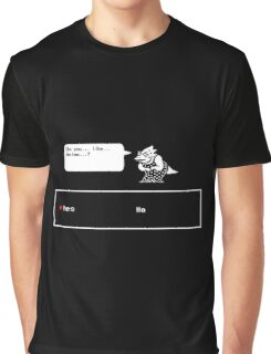 """Undertale - Alphys """"Do you like Anime? Yes/No"""" Transparent shirt Graphic T-Shirt"""