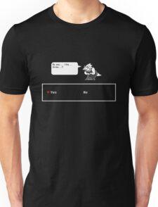 "Undertale - Alphys ""Do you like Anime? Yes/No"" Transparent shirt Unisex T-Shirt"