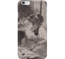 Edgar Degas - Intimacy (1877) iPhone Case/Skin