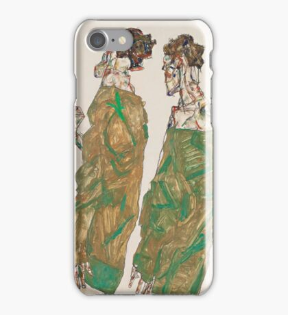 Egon Schiele - Devotion 1913 ,  Man Portrait , Egon Schiele  iPhone Case/Skin