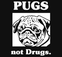 Pugs Not Drugs One Piece - Long Sleeve