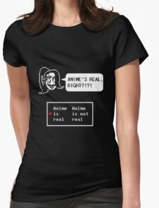"""Undertale - Undyne """"ANIME'S REAL RIGHT?!?!"""" Transparent shirt Womens Fitted T-Shirt"""