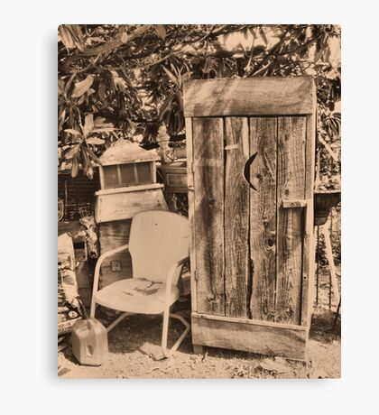 """OUTHOUSE AND NEXT IN LINE""... prints and products Canvas Print"