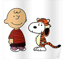 Charlie Brown and Snoopy as Calvin and Hobbes Poster