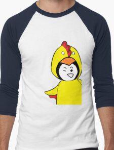 Pengychicken - a penguin in a chicken costume Men's Baseball ¾ T-Shirt