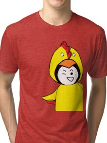 Pengychicken - a penguin in a chicken costume Tri-blend T-Shirt