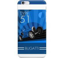 Poster artwork - Bugatti Type 51 iPhone Case/Skin