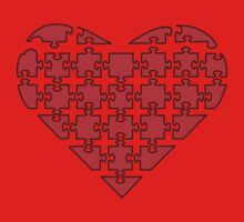 Heart Puzzle One Piece - Short Sleeve