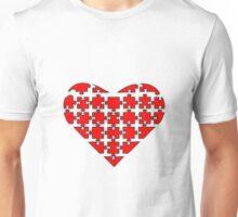 Heart Puzzle Unisex T-Shirt