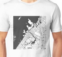 Dubai City Map Gray Unisex T-Shirt