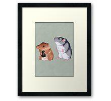 2 Hamster 1 Seed Framed Print
