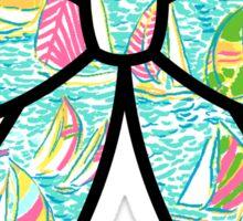Lilly Pulitzer Inspired Bow - You Gotta Regatta Sticker