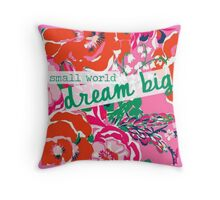 Small World Dream Big. Throw Pillow