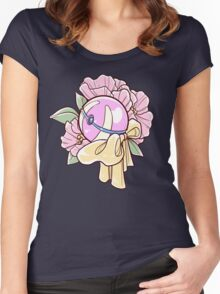 Floral Heal Ball Women's Fitted Scoop T-Shirt