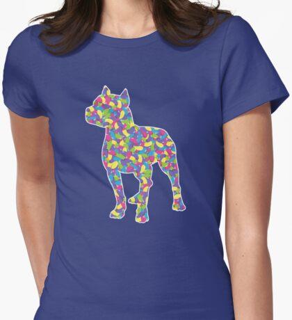Pitbull Terrier, Easter Jellybeans Womens Fitted T-Shirt