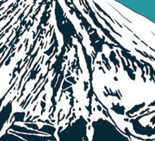Mt Fuji from the Sky Sticker