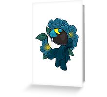 Floral Moon Ball Greeting Card