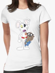 Dangermouse And Penfold Womens Fitted T-Shirt
