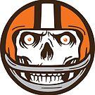 Die Hard Football Skull Icon by WeBleedOhio