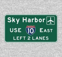 Phoenix Sky Harbor International Airport (PHX), Road Sign, Arizona Kids Tee