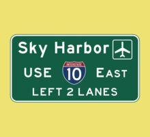 Phoenix Sky Harbor International Airport (PHX), Road Sign, Arizona One Piece - Short Sleeve