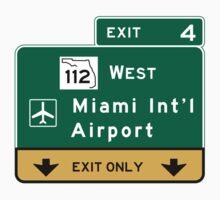 Miami International Airport (MIA), Road Sign, Florida One Piece - Short Sleeve