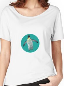 Geometric Waddling Penguin Women's Relaxed Fit T-Shirt