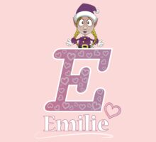 'E' is for Emilie! One Piece - Long Sleeve