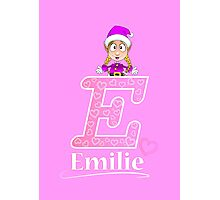'E' is for Emilie! Photographic Print