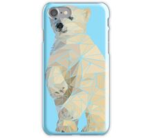 Geometric Baby Polar Bear Cub iPhone Case/Skin
