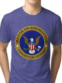 mayor of springfield Tri-blend T-Shirt