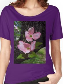 Pink Dogwood Blossoms Women's Relaxed Fit T-Shirt