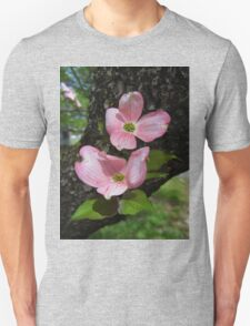 Pink Dogwood Blossoms Unisex T-Shirt