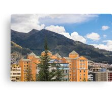 Buildings and Mountains Urban Scene in Quito Ecuador Canvas Print