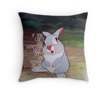 If you can't say something nice, don't say nothing at all Throw Pillow