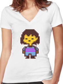Undertale Frisk Women's Fitted V-Neck T-Shirt