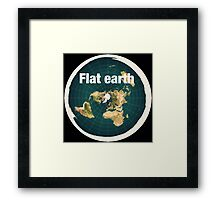 The earth is flat,reality, Framed Print